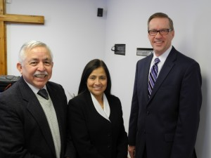 Pastor and Mrs. Quiroa with Bob Reed
